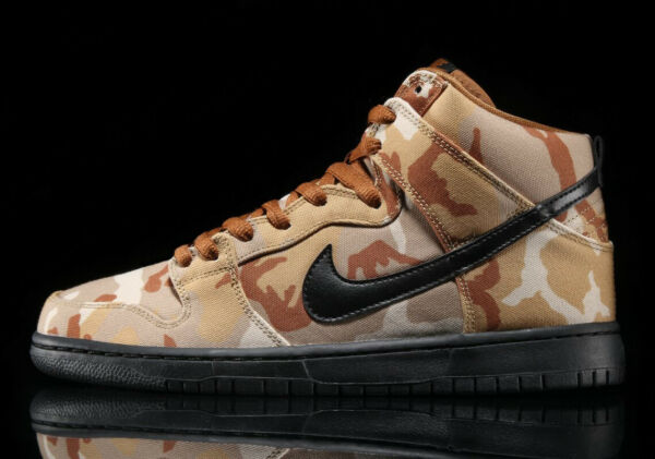 NIKE SB DUNK HIGH BROWN DESERT PARACHUTE BEIGE BLACK ALE SZ 7-15