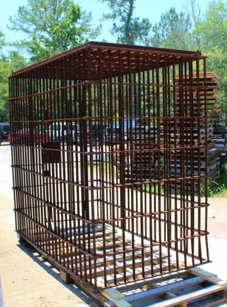 Antique Jail Cell by Pauly Jail Building Company in Rusted Heavy Gauge Steel