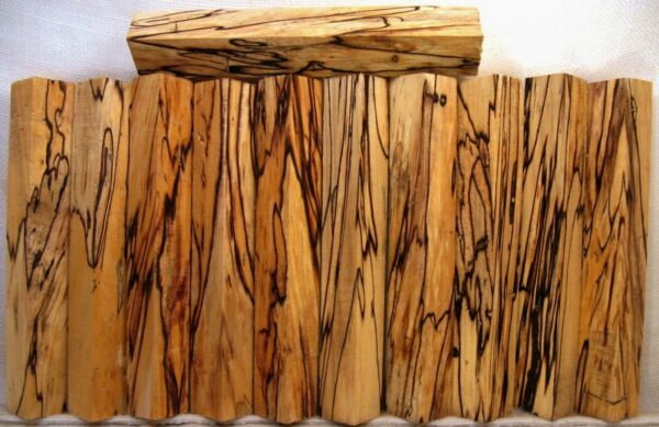 Spalted MAPLE WOOD Lathe TURNING PEN BLANKS Crazy Figure Color Black line   Sm01