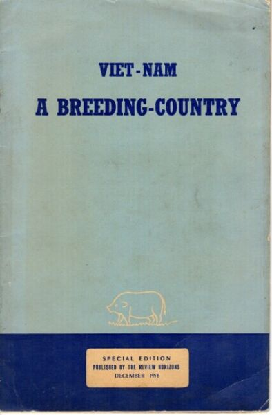 Viet Nam a breeding country cover title 1958 Science $105.00