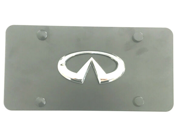 1X BLACK Stainless Steel License Plate Luxury RUST FREE For Infiniti