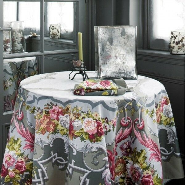 BEAUVILLE ARNE DU MILLENAIRE GRAY FRENCH TABLECLOTH 67