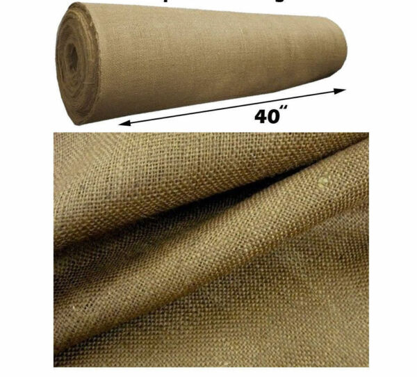 Burlap Fabric 38-40 Wide10 OZ BURLAP PREMIUM sold by yard continuous 100% Jute