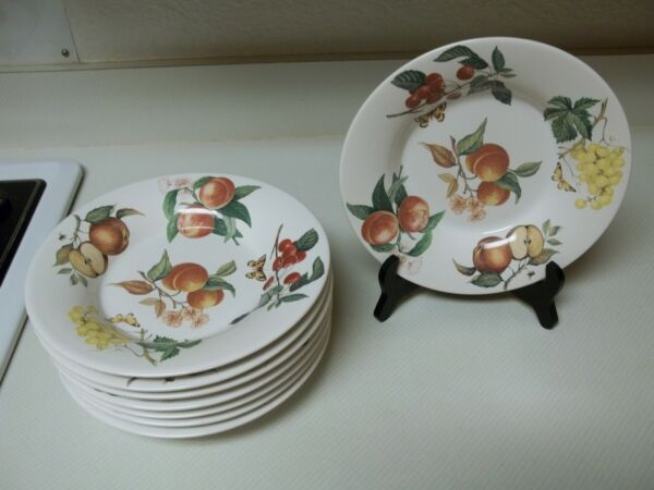 SIC Italia Decoro California Set of 8 Porcelain Bowls Fruit Butterfly $47.84