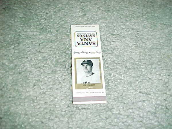 1965 Los Angeles Angels Jim Fregosi Santa Ana Savings & Loan Baseball Matchbook