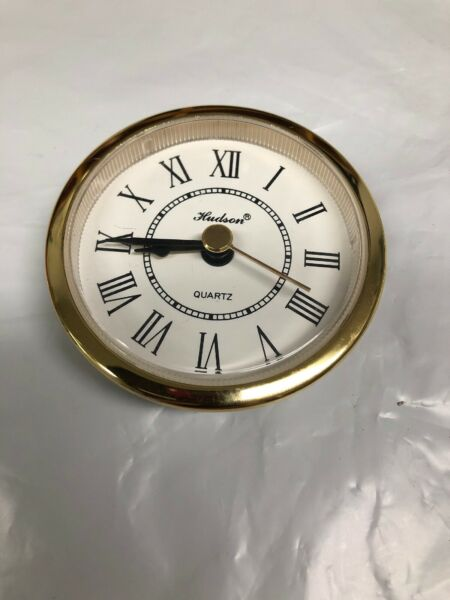 """Two 2 1 2"""" Quartz Clock Inserts Tested New 2 3 8"""" Overall Face"""