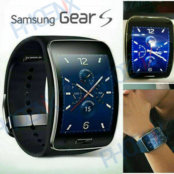 Unlocked Black-Genuine Samsung Galaxy Gear S Smart Watch SM-R750