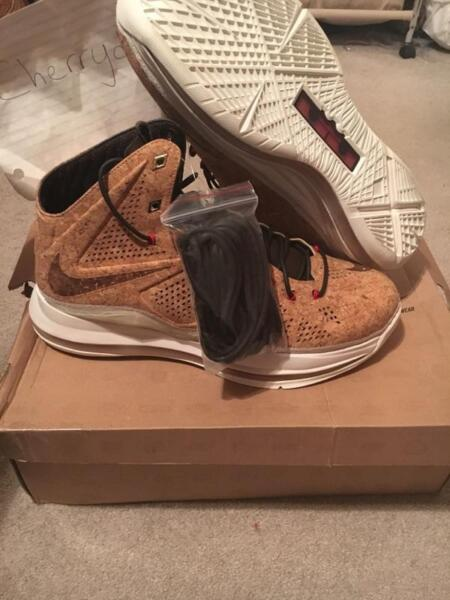 DS Nike Lebron X 10 EXT Cork QS 12 580890 200 boost Virgil Abloh off white dunk