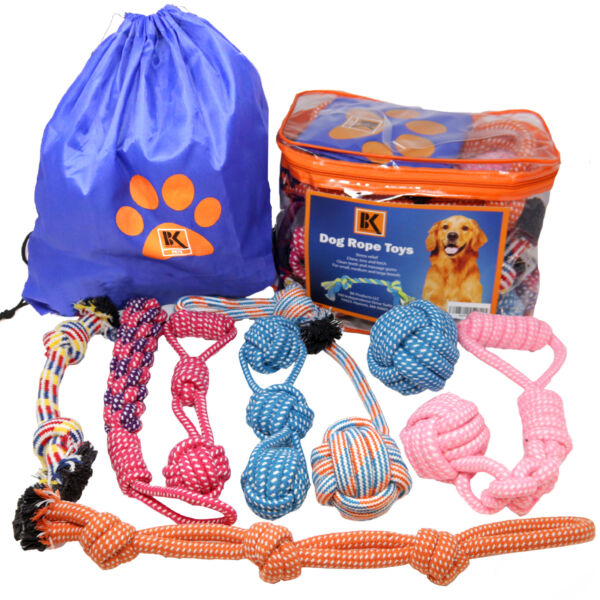Dog Toys - 8 Extra Large Dog Rope Toys for Medium and Large Dogs BK