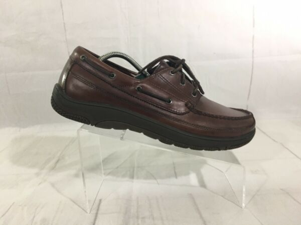 Orvis Men's Leather Boat Shoes Loafers 3-Eye Brown Moccasin Vintage Size US 11 M