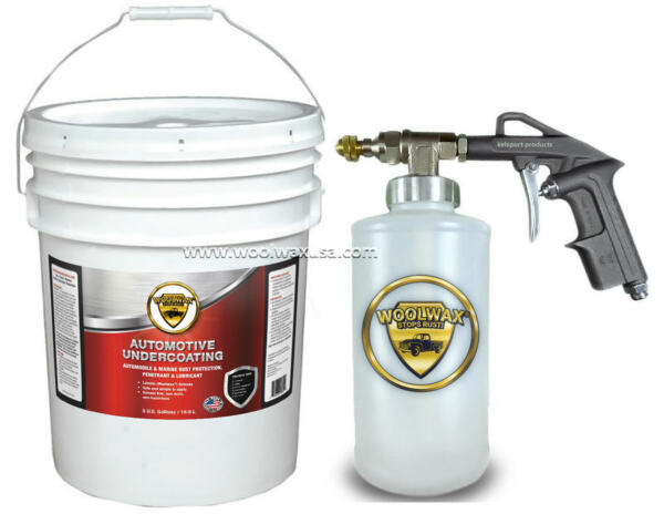 WOOLWAX™ Thick Lanolin Undercoating. 5 Gal with PRO GUN w 2 wands. BLACK color $289.00