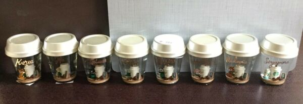 Starbucks Country Animal In Barista Apron Snow Globe Complete Set of 8 No Card
