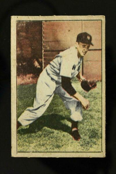 Vintage BASEBALL Card 1952 Berk Ross TOM MORGAN Hit Parade of Champions Yankees