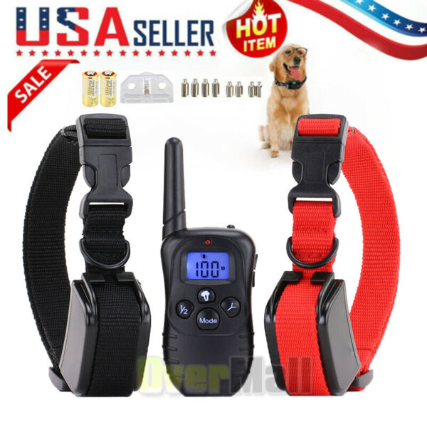 Dog Shock Collar With Remote Waterproof Electric For Large 1000Yard Pet Training $31.99