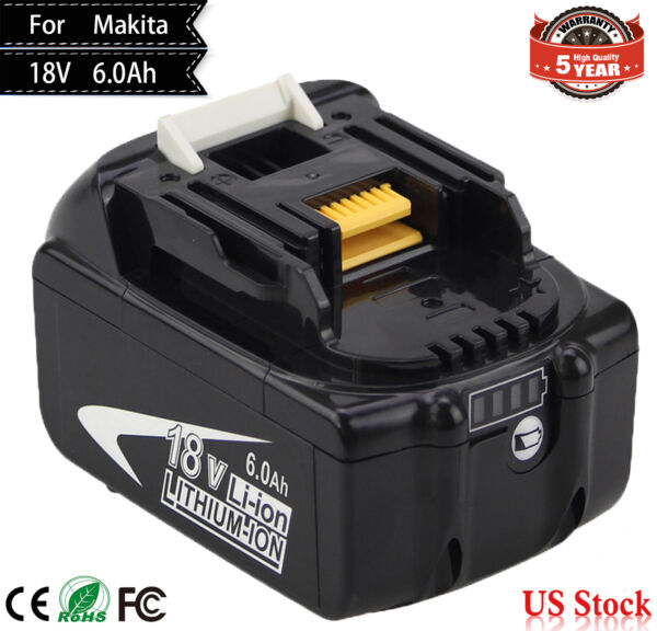 18V 6.0Ah REPLACE BL1860B BATTERY LXT LITHIUM-ION FOR Makita BL1830B CORDLESS