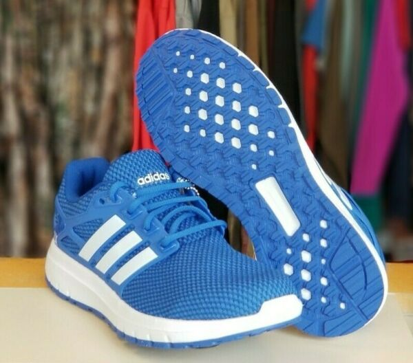 *NIB* Men's Adidas Sneakers Blue and White Running Shoes * Energy Cloud M *