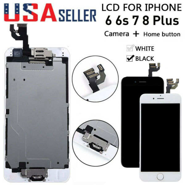 For iPhone 6S 6 7 8 Plus LCD Touch Screen Full Replacement With Button