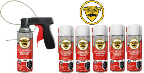 Woolwax® Spray Can Undercoating Kit. STRAW (clear) color  6 cans