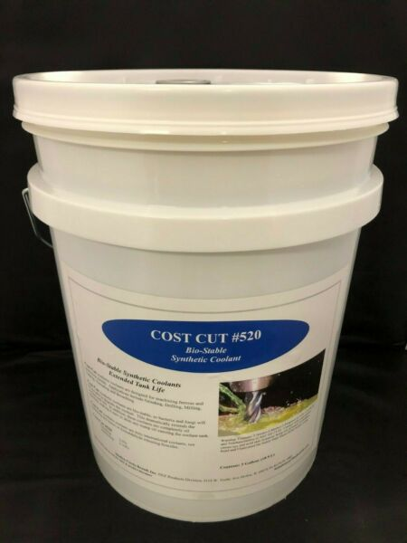 5 Gallon Pail- Water Soluble Bio-Stable Synthetic Coolant  Cutting Fluid - USA