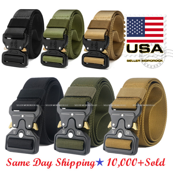 Casual Military Tactical Belt Mens Army Combat Waistband Rescue Rigger Belts $7.98