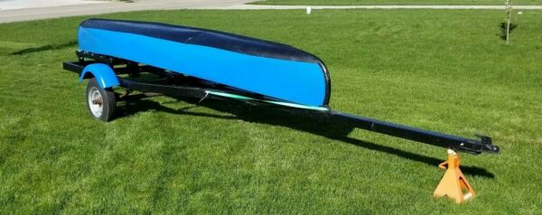 15 foot-Ft Aluminum Canoe with Tee Nee Boat Trailer-both need work-Local Pick Up