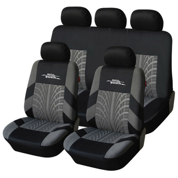 AUTOYOUTH Full Set of Car Seat Cover Car Protector Car Seat Car Decoration Black