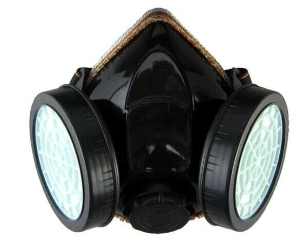 Emergency Survival Safety Respiratory Gas Mask amp;2 Dual Protection Filter $7.95