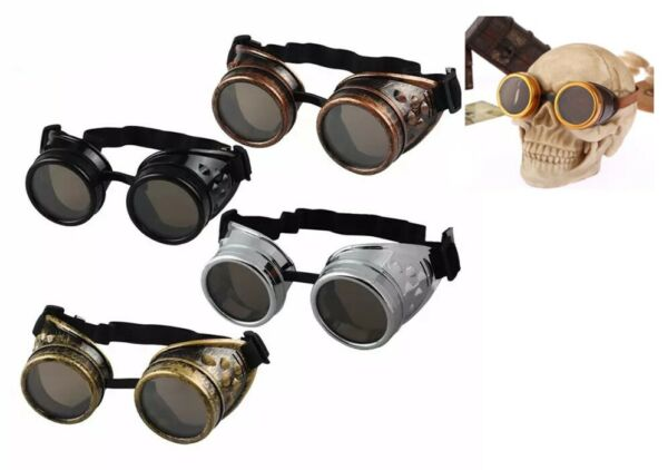 Aviation Biker Motorcycle Riding classes Windproof Steampunk SunGlasses Goggles $5.95