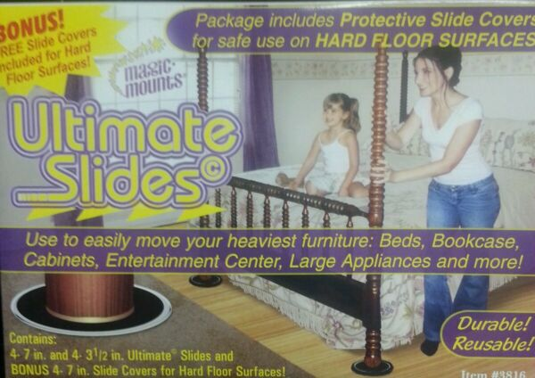 3 Boxes Magic Mounts Ultimate Furniture Movers Moving pads 》24 Slides Total《 $18.89