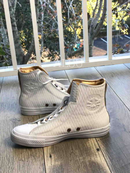 Sneakers Mens Converse Chuck Taylor All Star Alpha Leather White Hight Top