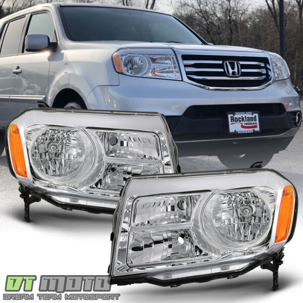 For 2012 2013 2014 2015 Honda Pilot Halogen Replacement Headlight Lamp LH RH Set