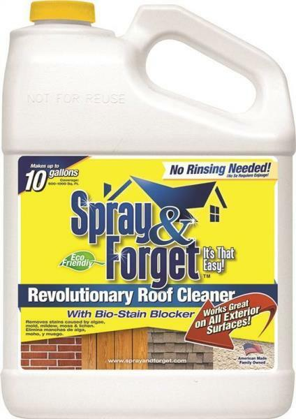 NEW SPRAY & FORGET SF1G-3 GALLON CONCENTRATE MILDEW HOUSE ROOF CLEANER 8407389