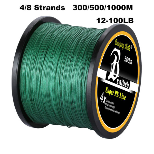 300 500 1000M Super Strong 4 8 Strand Multifilament PE Braided Fishing Line USA