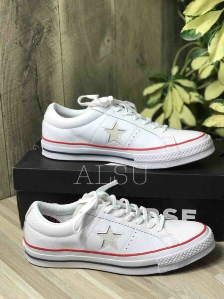 Sneakers Men's Converse One Star Leather Low Top White Gum Red