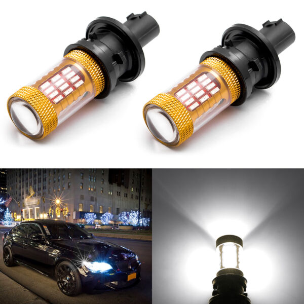 2x Error Free 6000K White PH24WY Replacement LED Turn Signal Light Bulbs for BMW