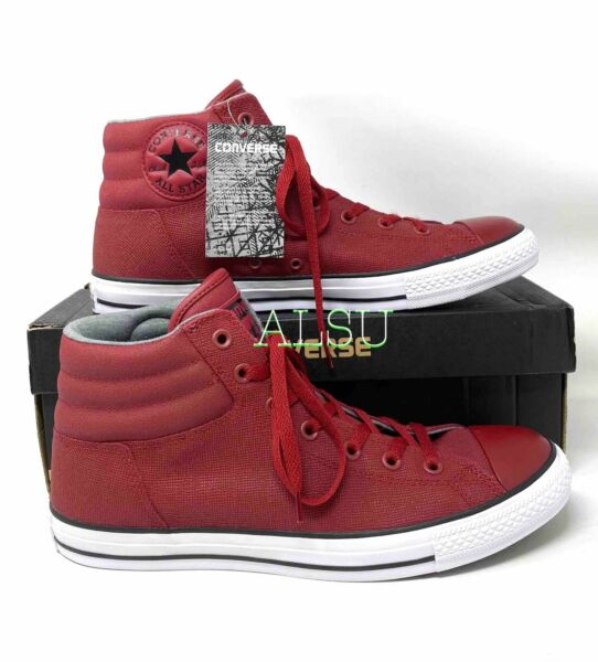 Sneakers Men's Chuck Taylor All Star Fresh Leather Back Alley High Top Red