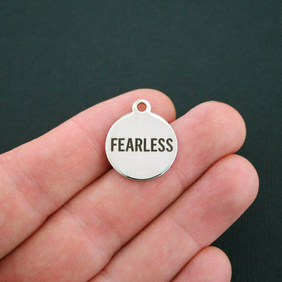 Fearless Charm Polished Stainless Steel Quantity Options BFS120