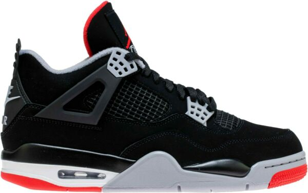 Air Jordan 4 Bred Retro IV OG Black Cement Red 308497 060