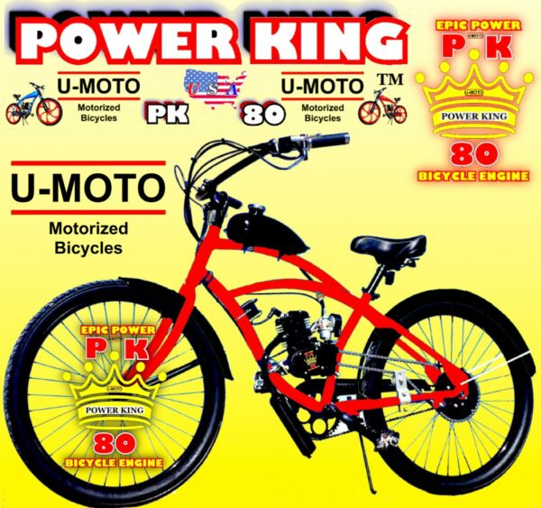 "66cc 80cc 2 STROKE MOTORIZED BIKE KIT AND 26"" CRUISER BIKE DIY MOTOR BIKE POWER $599.99"