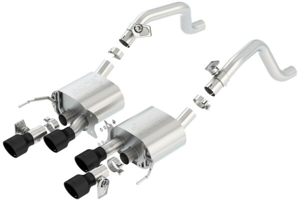 Borla 11856CB ATAK Axle-Back Exhaust System Fits 14-19 Corvette