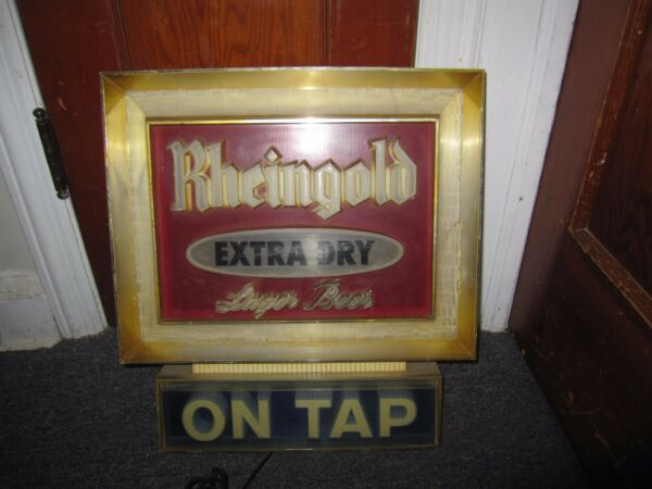 Rheingold Lager Beer On Tap Lighted Bar Sign