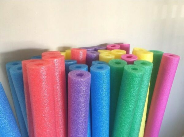 Qty 6! Pool Noodle Swimming Foam Party Therapy Fishing Floating colors vary