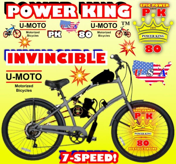 "66cc 80cc 2 STROKE MOTORIZED BIKE KIT AND 26"" CRUISER BIKE DIY POWERFUL BICYCLE $449.99"