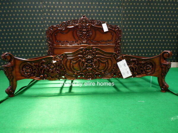 UK STOCK  6' Super King size  french style Rococo bed designer baroque furniture