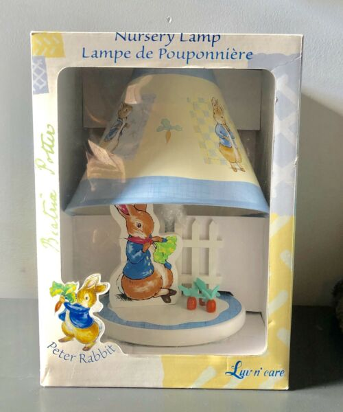 Peter Rabbit Table Lamp For Baby Nursery With Shade Beatrix Potter NEW