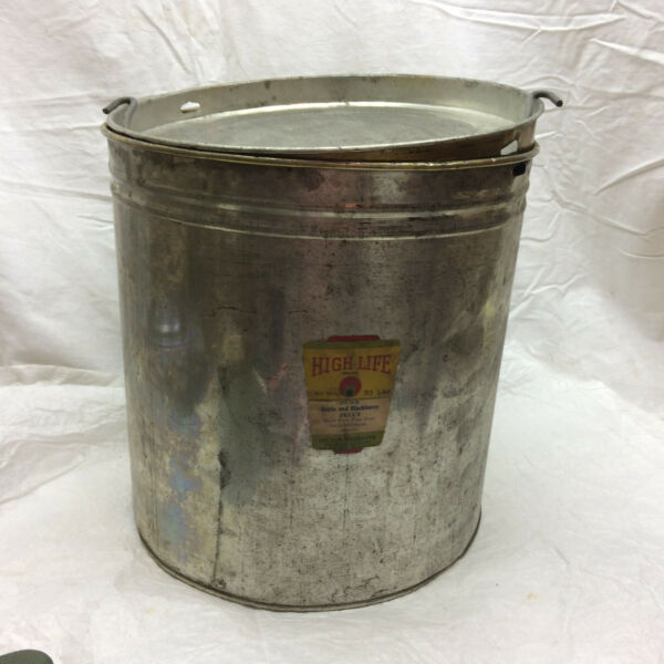Vtg Advertising Tin Can High Life Brand Holsum Products Label 10 14