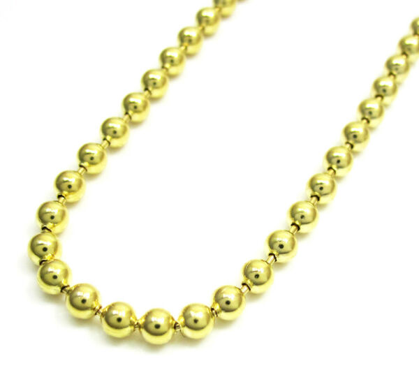 Mens Womens 14k Yellow Gold 3mm Military Plain Dog Tag Chain Necklace 16