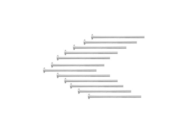 Wholesale 925 Sterling Silver Head Pins 26 24 22 20 Gauge GA Many Sizes