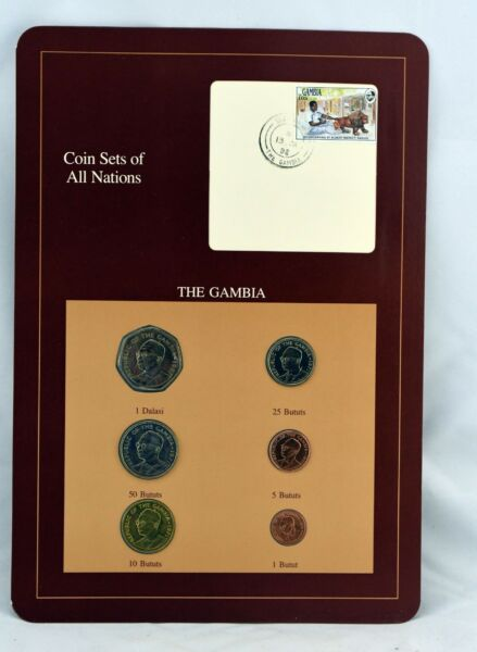 Coin Sets of All Nations Franklin Mint Federal The Gambia 1987 71 74