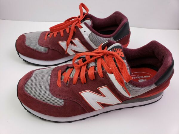 New Balance Sneakers 574 Red Men's Size 13